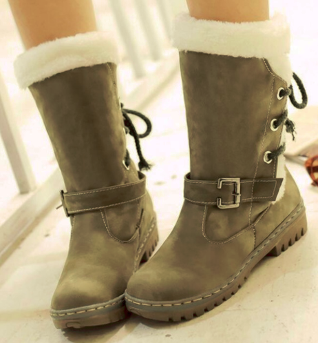 Female Winter Warm Boots With Fur Inside