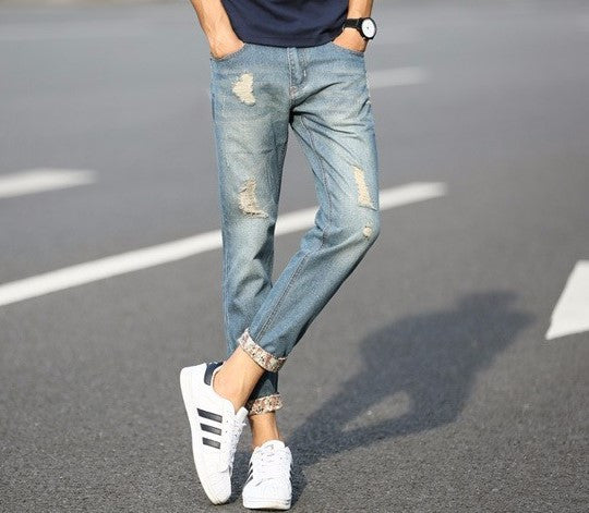 Men's Fashion Slim Fit Casual Jeans - Zorket
