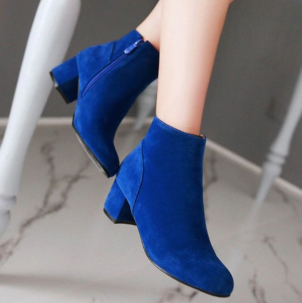 Women's Autumn/Winter Casual Faux Suede Ankle Shoes