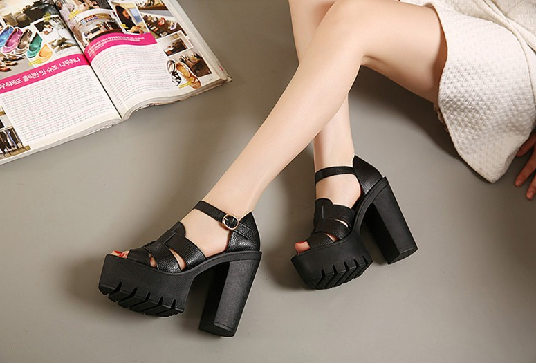 Female Casual Solid Color Sandals With Open Toe - Zorket