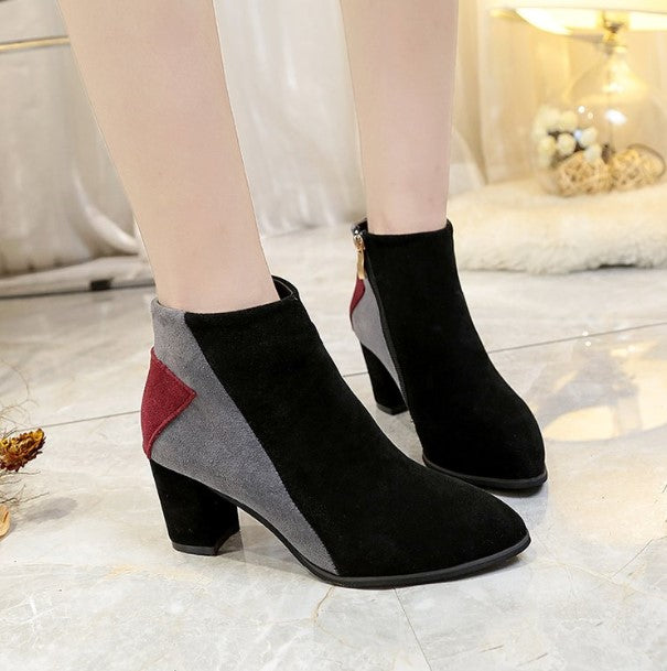 Women's Autumn/Winter Casual Heeled Ankle Boots