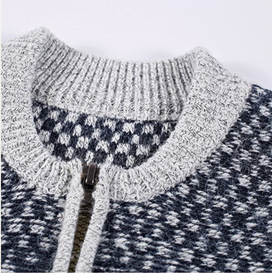 Men's Winter Knitted Cotton Slim Fit Turtleneck Sweater