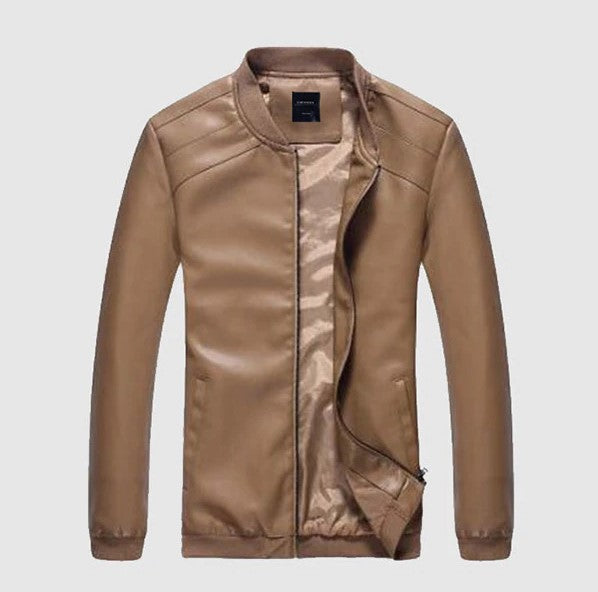 Men's Spring/Autumn PU Leather Slim Jacket