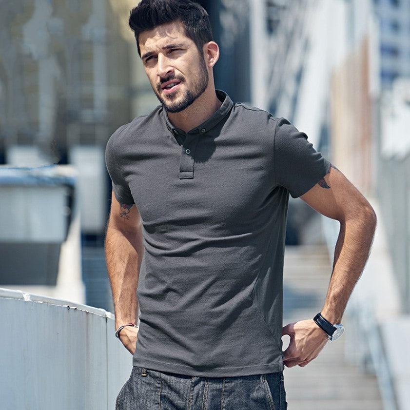 Men's Summer Casual Short-Sleeved Polo T-Shirt