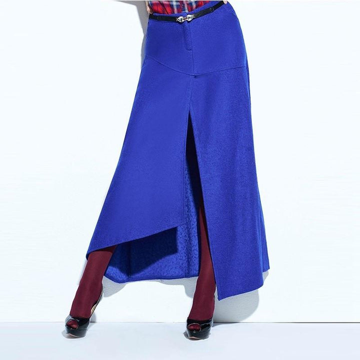 Women's Royal Blue A-Line Spring Vintage Skirt