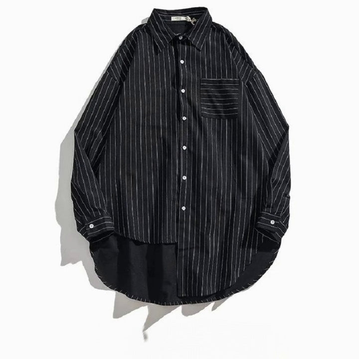 Men's Spring/Autumn Casual Striped Long Sleeved Shirt