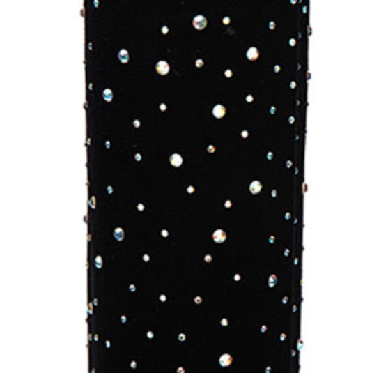 Women's Spring/Autumn Stretch Heeled Over-The-Knee High Boots Decorated With Crystals