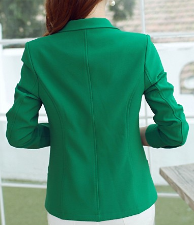 Blazer – Female One Button Three Quarter Sleeve Formal Blazer | Zorket