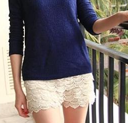 Shorts – Female Fashionable Lace Dress Shorts | Zorket