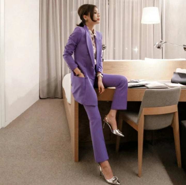 Women's Spring/Autumn Two Piece Suit