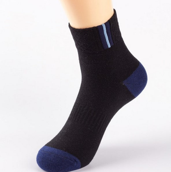 Men's Spring/Summer Basic Cotton Breathable Socks | 5 Pairs Socks