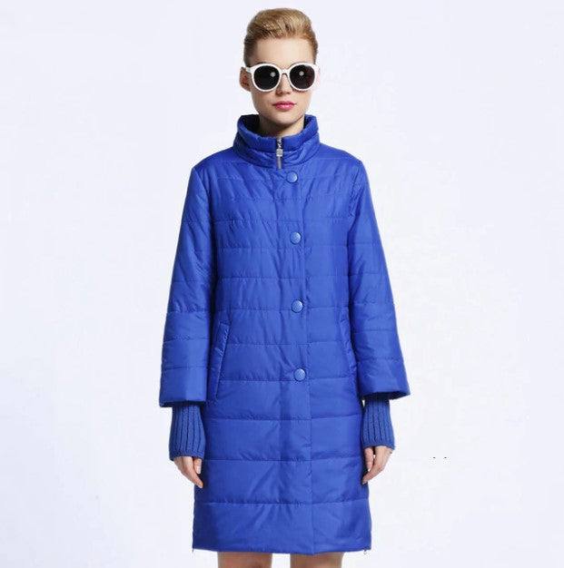 Women's Winter Medium-Long Cotton Padded Warm Coat