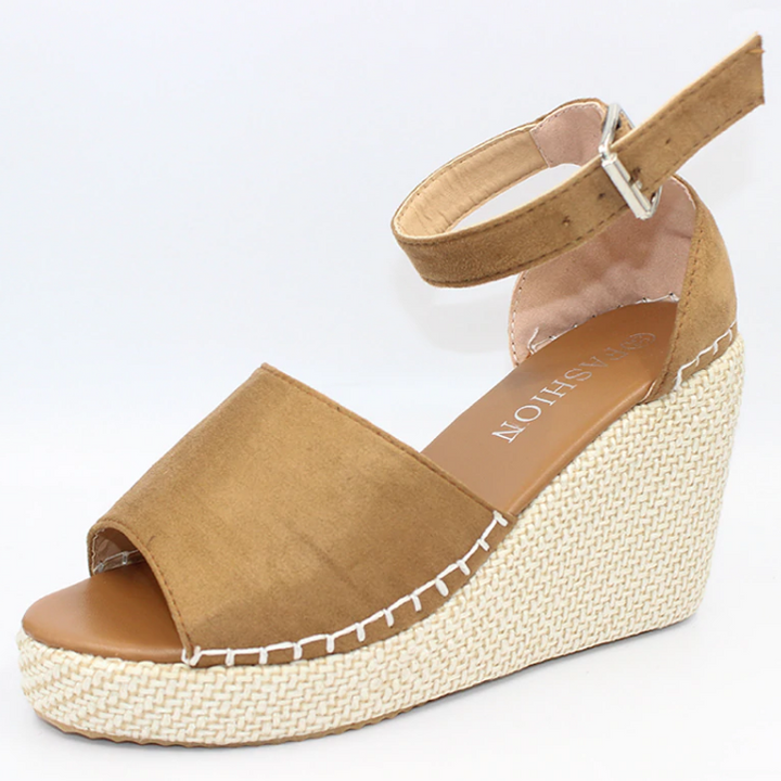 Women's Spring/Summer High Platform Cloth Linen Sandals