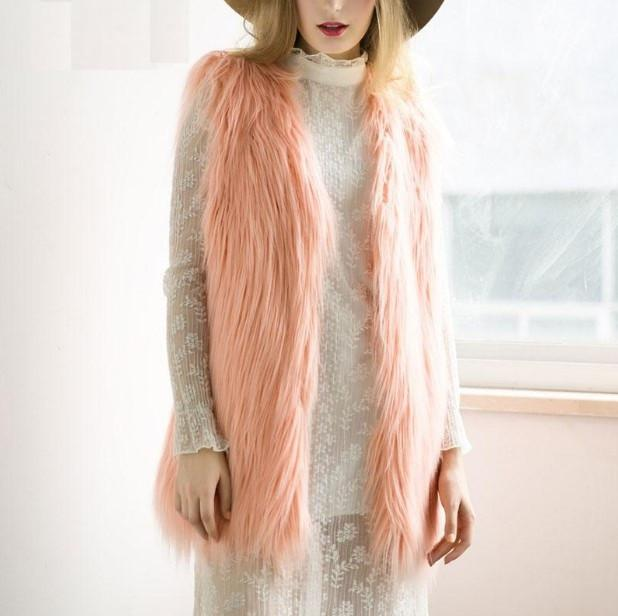 Women's Fluffy Faux Fur Autumn Vest