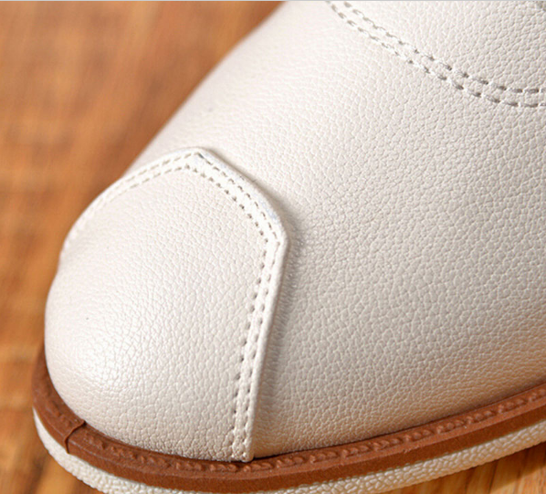 Solid Color PU Leather Casual Men's Shoes - Zorket