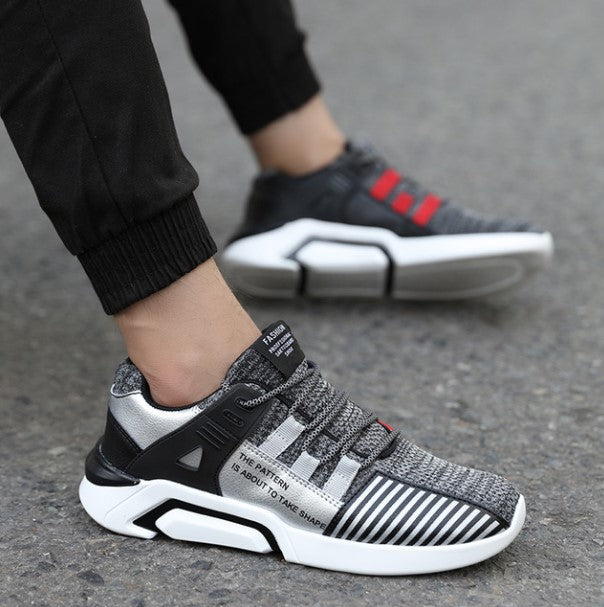 Men's Spring/Autumn Casual Cotton Lace-Up Sneakers