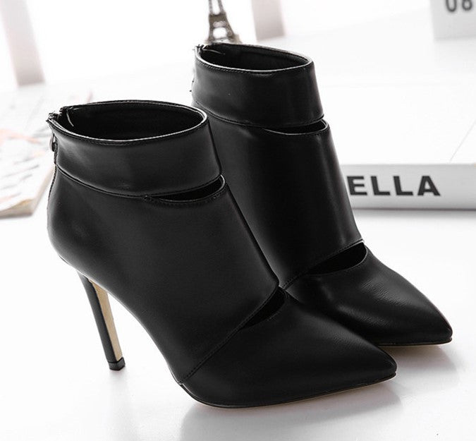 Pointed Toe Women's High Heels Ankle Boots - Zorket