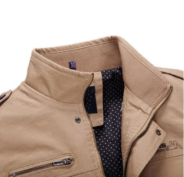 Men's Spring/Autumn Casual Windproof Cotton Jacket | Men's Outwear