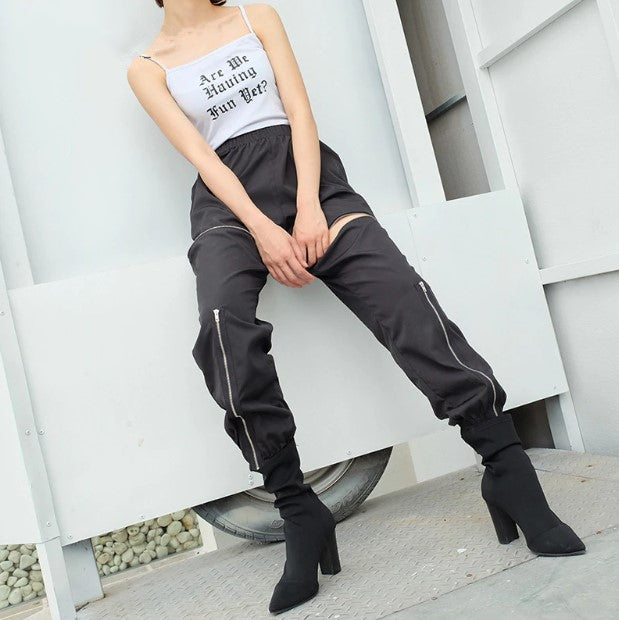 Women's Summer Spliced Loose Cargo Pants