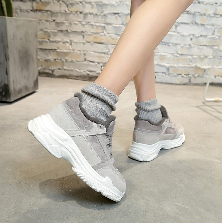 Women's Winter  Thick Non-Slip Casual Velvet Sport Shoes | Women's Warm Sneakers