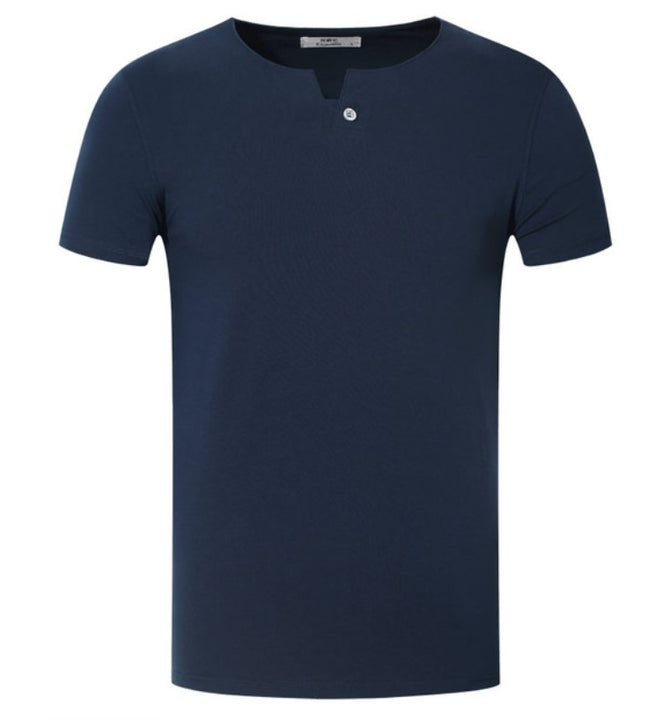 Men's Summer Basic Cotton O-Neck Short-Sleeved T-Shirt
