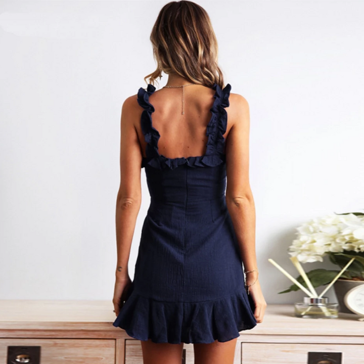 Women's Summer Mini Backless A-Line Dress