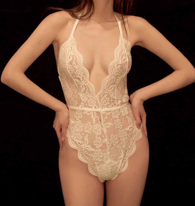 Women's Summer Lace Transparent Lingerie Bodysuit