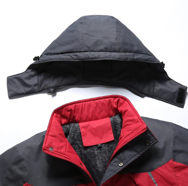 Men's Winter Thermal Waterproof Down Parka With Velvet Lining