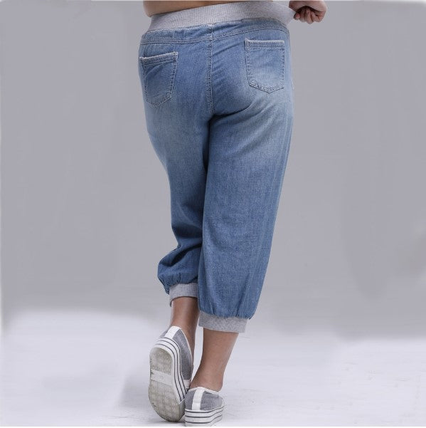 Women's Summer Calf-Length Loose Harem Jeans