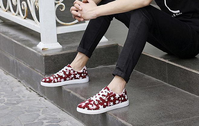 Loafers – Casual Canvas Men's Loafers With Star Print | Zorket