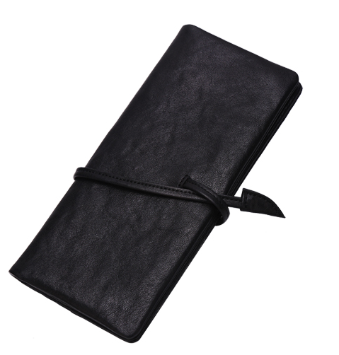 Timeless Vegetable-Tanned Genuine Leather Vintage Black Wallet For Men - Zorket