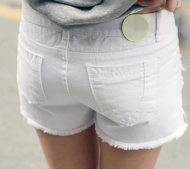 Female Casual Low Waist Denim Shorts - Zorket