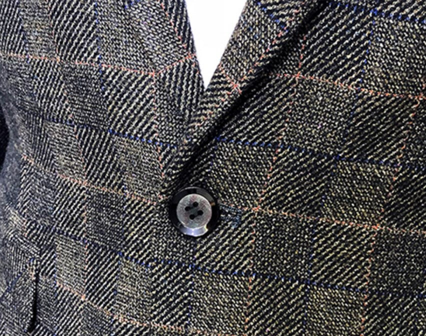 Men's Casual Plaid Blazer