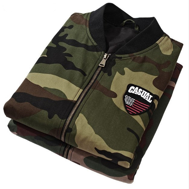 Men's Autumn Camouflage Slim Bomber