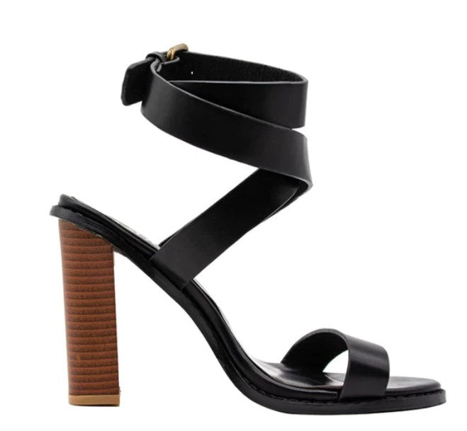 Women's Summer PU High-Heeled Ankle Strap Gladiator Sandals