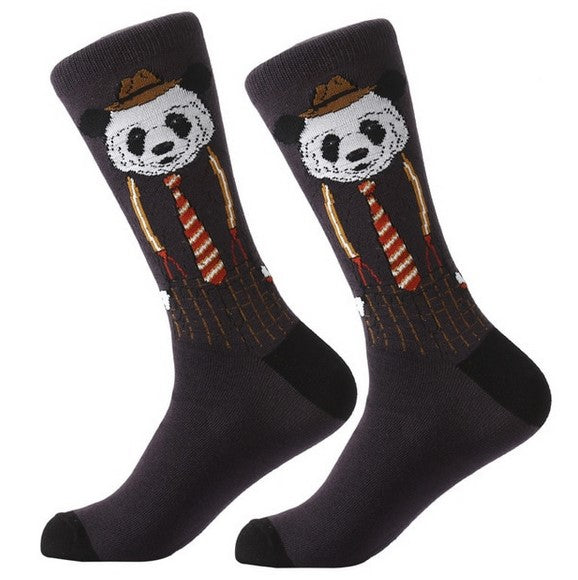 Men's Spring/Autumn Cotton Socks With Funny Printings