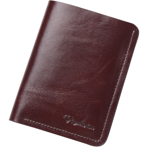 Ultra-Thin Short Leather Wallet For Men