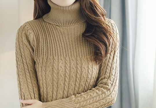 Sweater – Fashion Women's Casual High Neck Sweater | Zorket