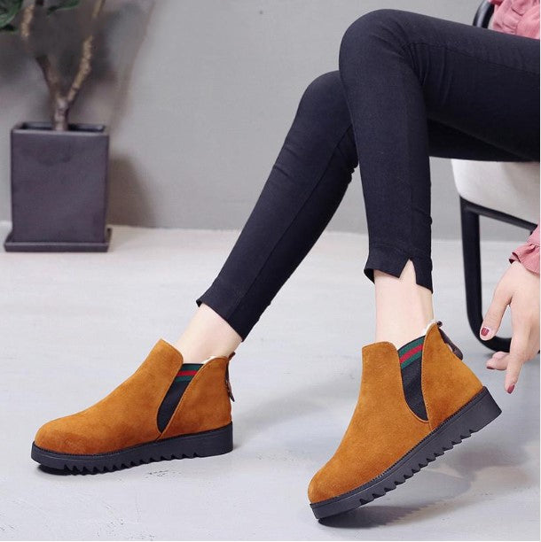 Women's Autumn/Winter Warm Flat Plush Ankle Boots
