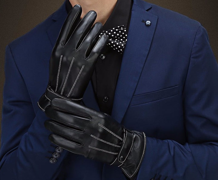 Men's Leather Touch Screen Gloves - Zorket