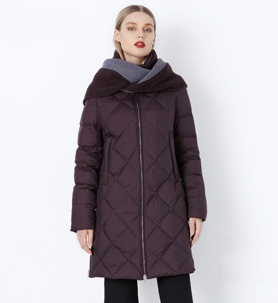 Women's Winter Warm Bio-Fluff Parka With Scarf