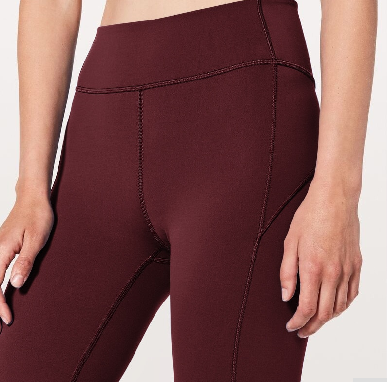Women's High Waist Contrast Stitch Stretchy Fitness Leggings