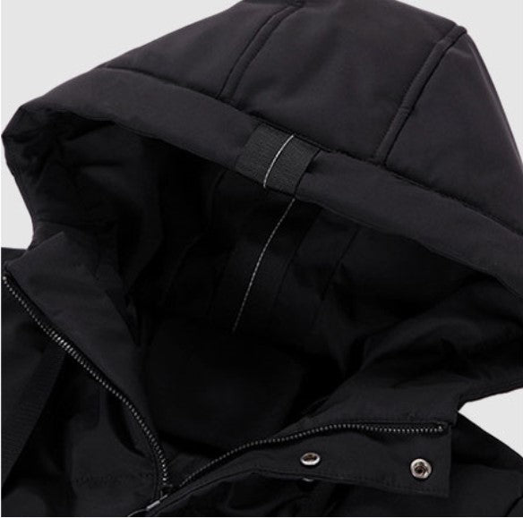 Men's Winter Warm Waterproof Hooded Long Parka