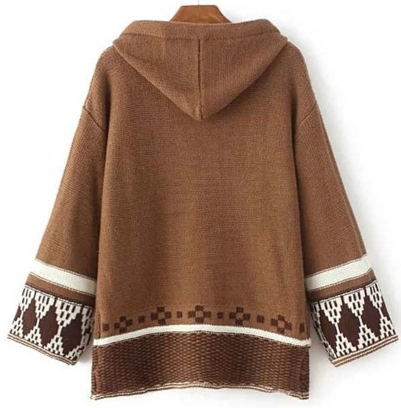 Female Casual Vintage Hooded Sweater - Zorket