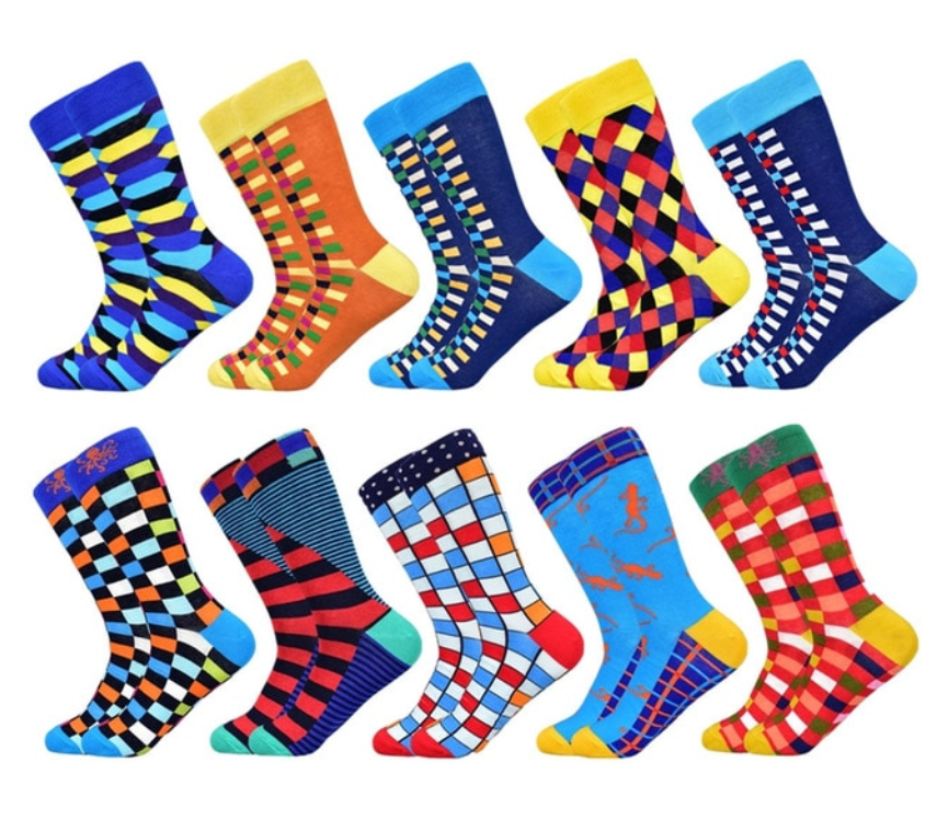 Men's Spring/Autumn High Colorful Cotton Socks