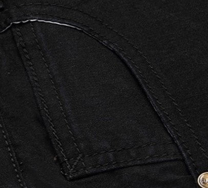 Jeans – Elastic Black Color Slim Straight Casual Jeans | Zorket