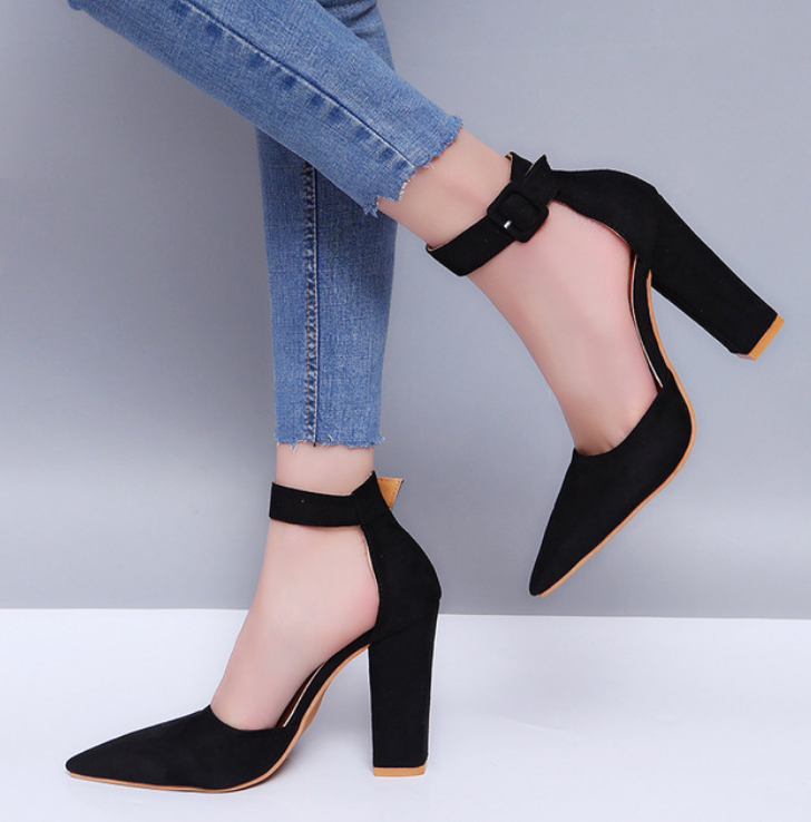 Women Summer High Heel Sandals With Pointed Toe