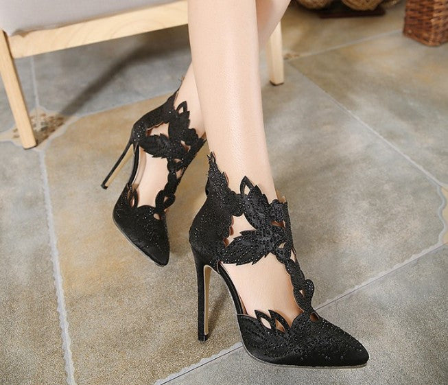 Boots – Female Pointed Toe Fashion High Heels Sandals | Zorket