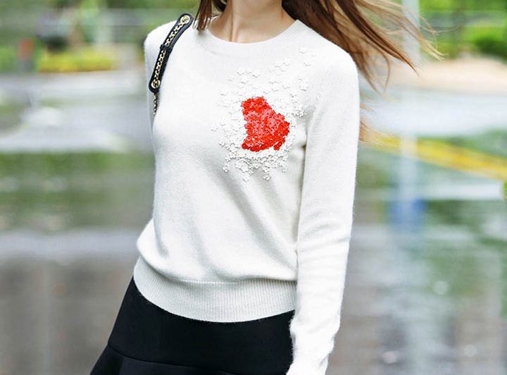 Sweater – Female Warm O-Neck Casual Sweater | Zorket