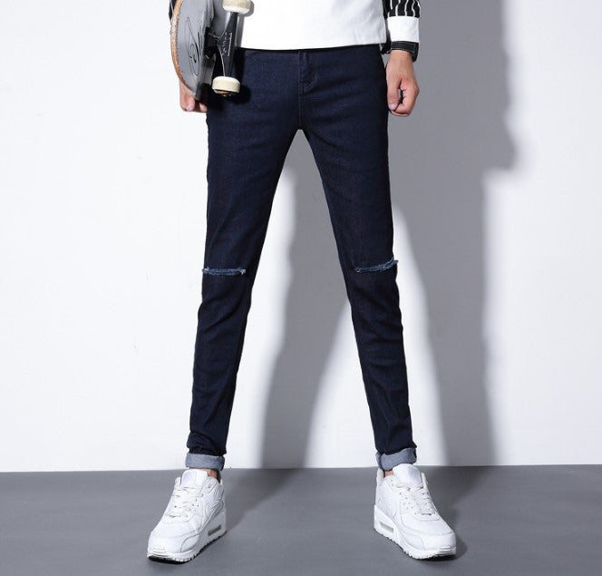 Men's High Quality Casual Ripped Skinny Jeans - Zorket